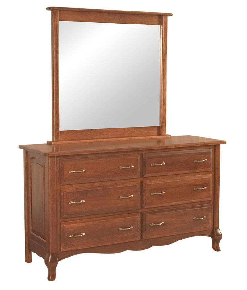 French Country 6 Drawer Dresser With Optional Mirror