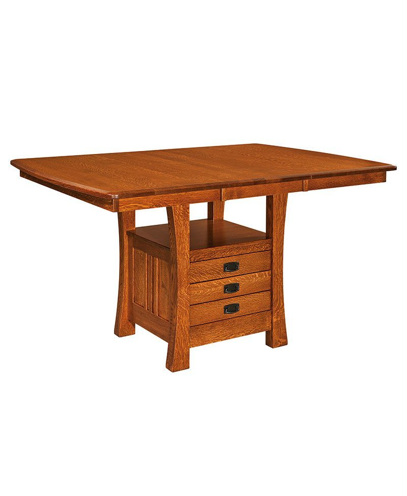 Arts crafts cabinet table deutsch furniture haus for Craft cupboard with table